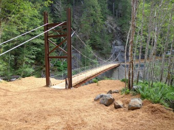 Crystal Creek Cable Suspension Bridge.