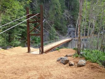 Crystal Creek Cable Suspension Bridge.